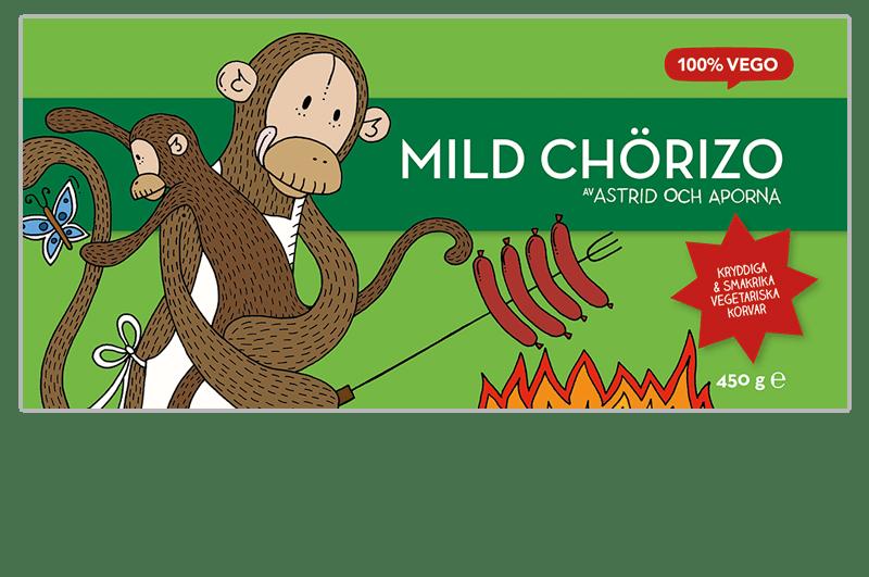 Mild chorizo fryst