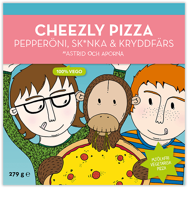 Cheezly Pizza – Pepperöni, sk*nka & kryddfärs