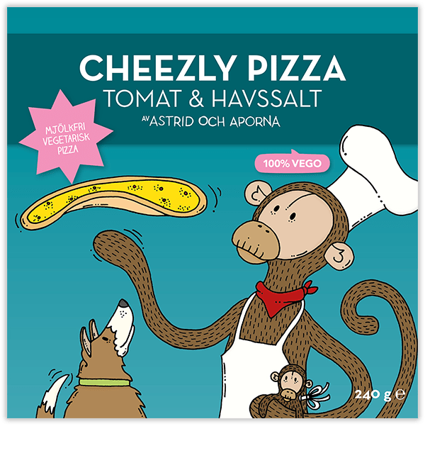 Cheezly Pizza – Tomat & havssalt