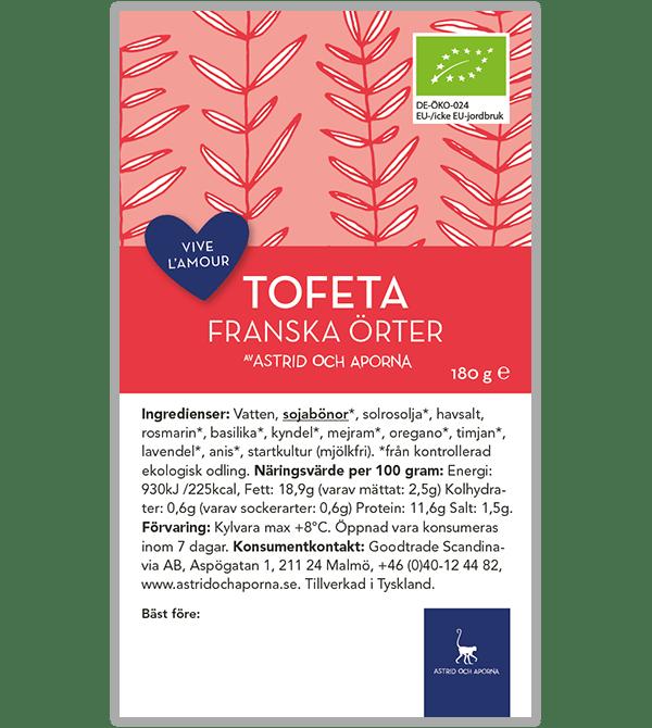 Tofeta – Franska örter