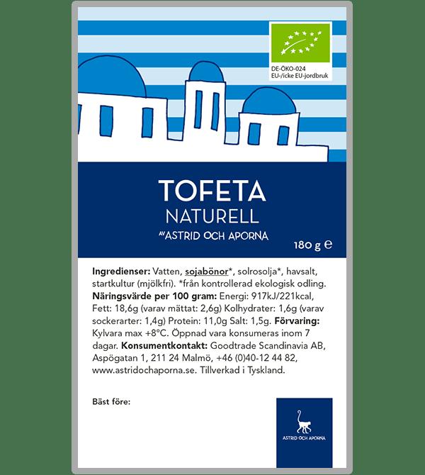 Tofeta – Naturell